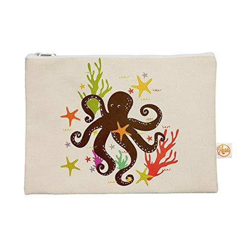 Kess eigene 12,5x 21,6cm strawberringo Freunde um das Meer Alles Tasche–Octopus Tan
