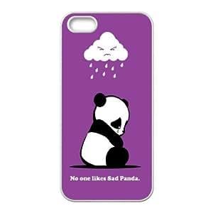 Stevebrown5v Panda iPhone 5,5S Cases Sad Panda, Girl Design Protective Panda, {White}