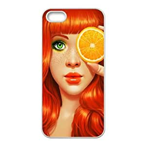 iPhone 4 4s Cell Phone Case White Redhead Girl J8C2EB
