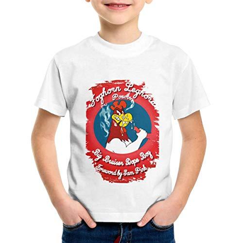 Patricia M Rivas Foghorn Leghorn Toddler Kids Short Sleeve White Cotton Tees T-Shirts Tops 5/6T -
