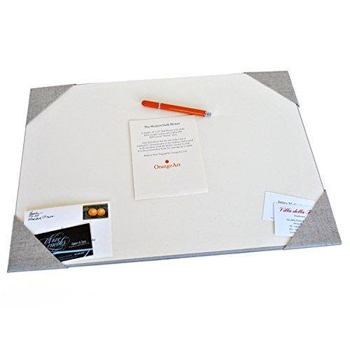 Desk Pad Desk Accessories Organizer Desk Blotter Modern Linen With Ecru  Paper 14u0027u0027 X