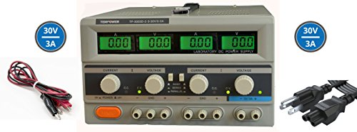 Tekpower TP3003D-3 Digital Variable Triple Outputs Linear-type DC Power Supply, 0-30 Volts @ 0-3 Amps