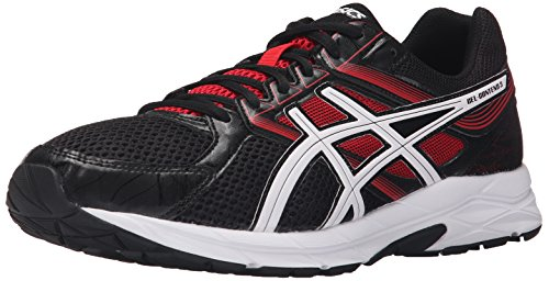 ASICS Men's Gel-Contend 3-M, Onyx/Snow/Racing Red, 8 M US