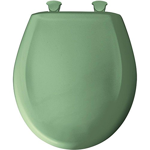 Bemis 200SLOWT 025 Round Closed Front Toilet Seat, Jade