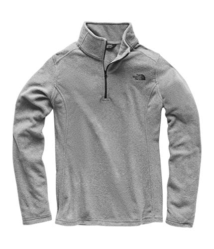 - The North Face Women's Glacier 1/4 Zip Fleece Top TNF Medium Grey Heather Small