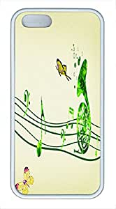 Note Design Slim Clear TPU White Case for Iphone 5S - Trumpet
