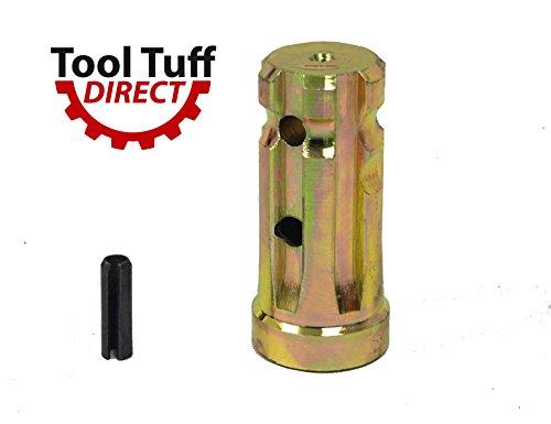 (PTO Sleeve Increaser Adaptor, 1-3/8 x 6 Male x 1-1/8 x 6 Female, Closed end)