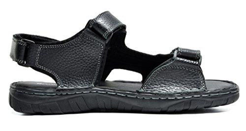 Bruno Marc Heren Maui Outdoor Visser Sandalen Zwart