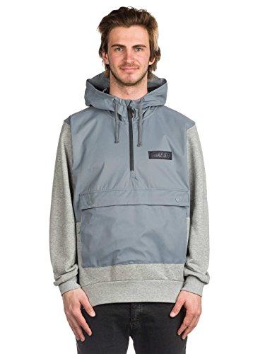 Nike Men's SB Everett Repel Anorak Hoodie Cool Grey/Dark Grey Heather (Large)