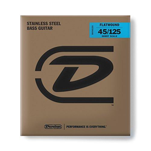 Dunlop Flatwound Short Scale 45/125 Medium 5/SET Bass Guitar Strings ()