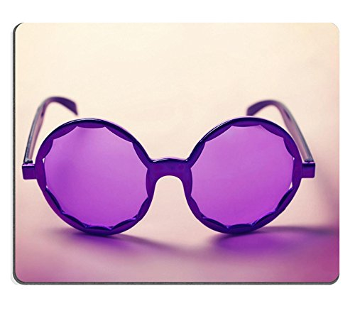 Luxlady Gaming Mousepad IMAGE ID: 34009416 Funky purple sixties hippy sunglasses with shadows horizontal - Big Balls Scratch Off Costumes