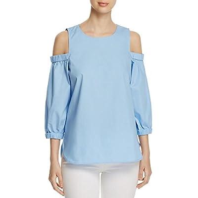 Calvin Klein Women's Three Quarter Sleeve Cold Shoulder Top