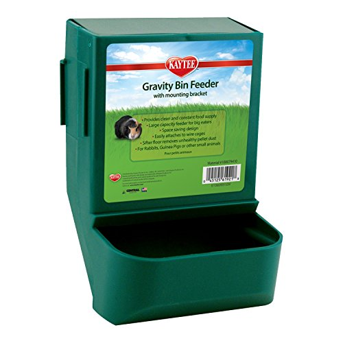 Kaytee Gravity Bin Feeder with Bracket, Colors Vary