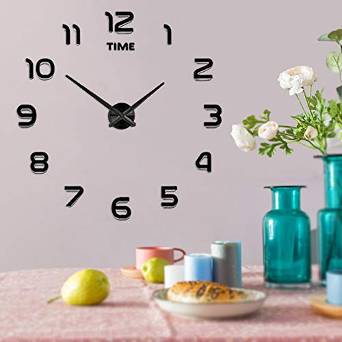IY Wall Clock Mute Mirror Stickers Home Office School Decoration (2-Year Warranty) ()