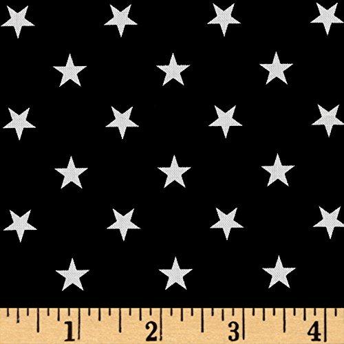 Robert Kaufman Kaufman Sevenberry Classiques Med Star Black Fabric by The Yard