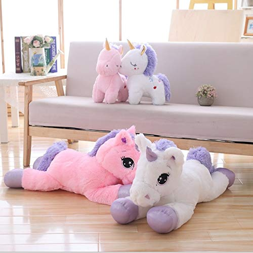 White 40cm sitting CGDZ Giant Size Unicorn Plush Toy Soft Stuffed Cartoon Unicorn Dolls Animal Horse Gift For 110CM C