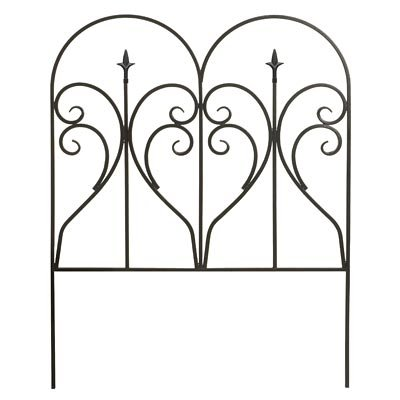 """Panacea Scroll & Finial Border Fence, Black, 31""""H, Pack of 12"""
