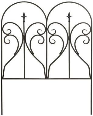 BestNest Panacea 87405 Scroll Finial Border Fence, Black, 31 H, Pack of 12