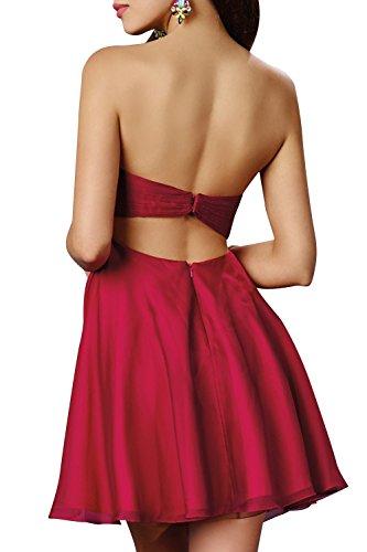 Braun Traegerlos Tanzenkleider Sommerkleider Braut Partykleider mia Chiffon Abendkleider Cocktailkleider Mini La Kurzes x76R6w