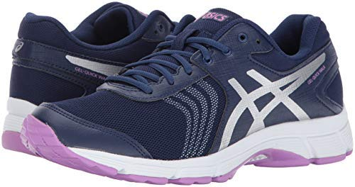 ASICS Womens Gel-Quickwalk 3 Walking Shoe, Indigo Blue/Silver/Violet, 8.5 Medium US