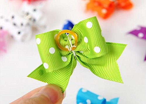 20 Pcs Pet Grooming Hair Bow Ribbon Gift Headdress Flower Hair Accessories for Dog Cat Puppy by Gozier (Image #5)