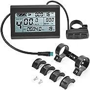 Bike Speedometer, Waterproof Practical Bike Display Meter, KT-LCD3 Electric LCD Display Meter Digit Password F
