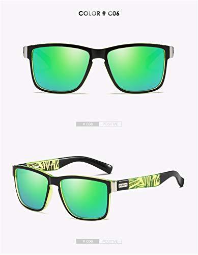 Soleil Lunettes Hommes Spuare de Design pour Summer polarisées Oculos UV400 Vintage Soleil D KOMNY F Mirror Driver de Hommes Shades Lunettes Homme Marque qOw7aZx4E