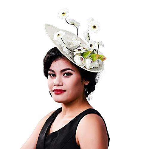 KALRTO Hemp Hat Hair Accessories, Bridal Linen Flower Headdress, Wedding/Christmas Party/Cocktail Dress Dress Accessories Headband