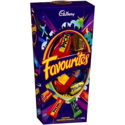 Cadbury Favourites Chocolate Gift Box (Made in Australia) (540g (1.2 lb))