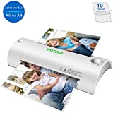 """Thermal Laminator for A4/A6, 9"""" Laminating Machine with Two Roller System, Jam-Release Switch, Fast Warm-up, Quick Laminating Speed, Low Noise, for Home, Office and School, with 10 Laminating Pouches"""
