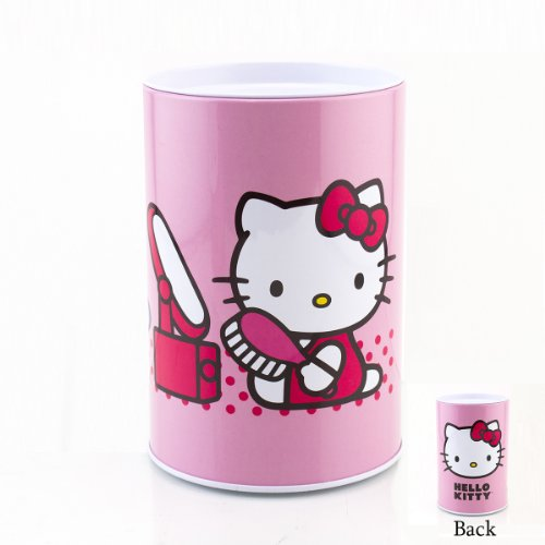 Ifavor123 Hello Kitty By Sanrio Round Coin Tin Bank (Light Pink)