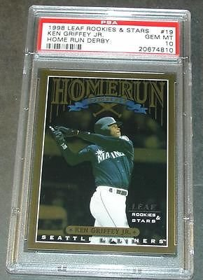 1998 Leaf Rookies & Stars Ken Griffey Jr Home Run Derby #19 PSA 10 POP 1/2 ()