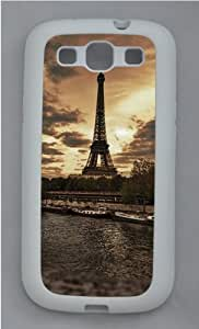 Samsung Galaxy S3 Case Cover - Eiffel Tower View Cool Design Samsung Galaxy S3 Case - TPU - White
