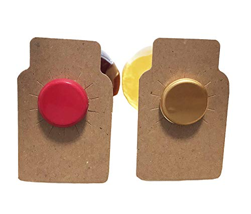 110 Wine bottle tags brown chipboard paper - made in USA (Chipboard Home)