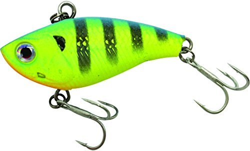 Vibe 2-1/2 Inch 3/4oz Sinking Soft Vibrating Lipless Crankbait- Chartreuse Tiger ()