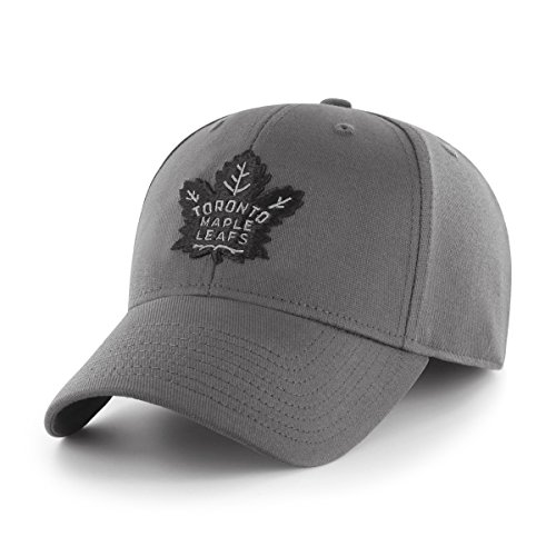 OTS NHL Toronto Maple Leafs Comer Center Stretch Fit Hat, Charcoal, Large/X-Large