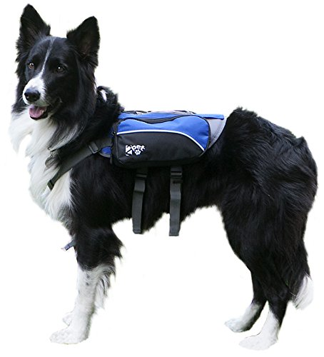2PET Dog Backpack for Hiking Compact Dog Saddlebag for Dogs Adjustable Harness, Comfortable Fit-Perfect Dog Carrier Backpack with 2 Zipper Pockets & Bottle Holder for Outdoor Activities Select S/C 41OJnvWzPAL