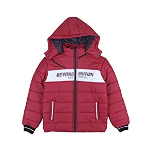 Indian Fort Winter Casual Jacket for Boys & Girls (Maroon,12-13Years)