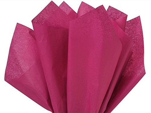 A1BakerySupplies® High Quality Gift Wrap Color Tissue Paper - Preimum Quality Paper Made in USA 15 X 20 Inches - 100 Sheets per Pack (Cranberry Paper)
