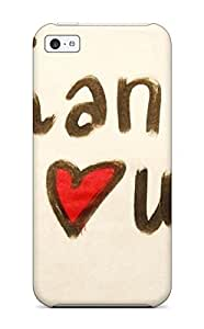 Flexible Tpu Back Case Cover For Iphone 5c - Thank You On Green