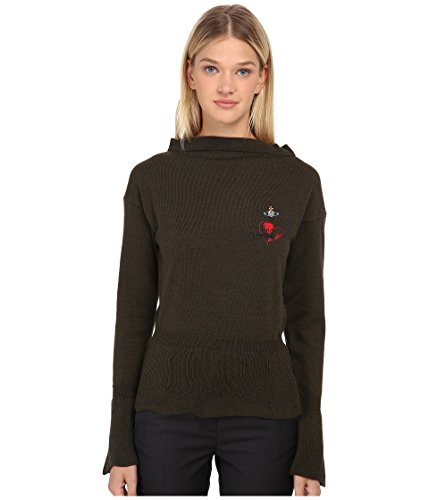 (Vivienne Westwood Women's Basic Knitwear Classic Sweater, Military Green, SM)