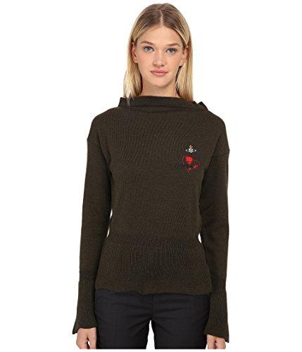 Vivienne Westwood Women's Basic Knitwear Classic Sweater, Military Green, SM
