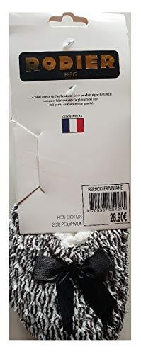 Antidérapant Paris Doux Anti Coton Semelle Dérapant Bleu Femme Chaussons Rodier Ultra Confort URnw4TUq