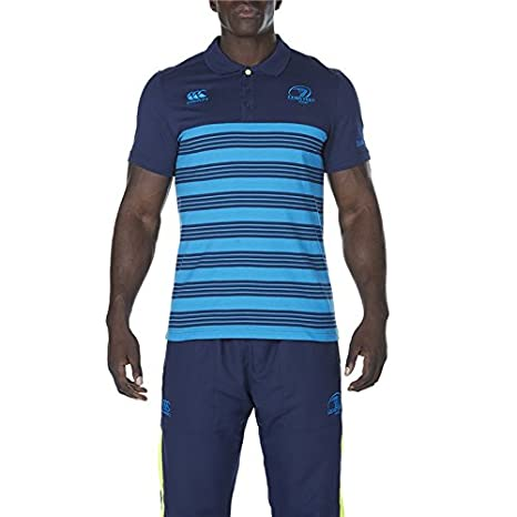 Leinster Rugby Cotton Jersey Stripe Polo 17/18: Amazon.es ...