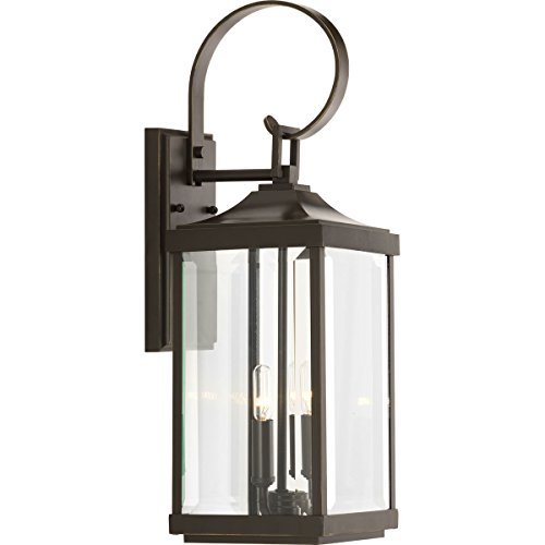 Progress Lighting P560022-020 Gibbes Street Two-Light/Med Wall Lanteern, Antique Bronze - Progress Lighting Bronze Outdoor Lantern