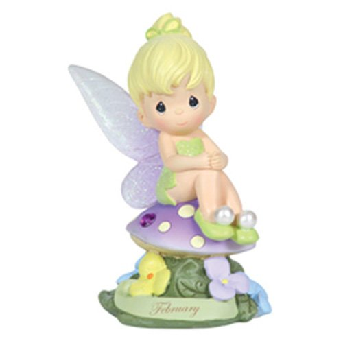 Precious Moments, Disney Showcase Collection,  February Fairy As Tinker Bell, Amethyst, Resin - Tinkerbell Gift