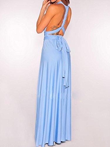 Dresses Wrap Womens Infinity Way Blue Maxi Strap Dresses PERSUN For Cornflower Convertible Gown Multi PRwqzz1Y