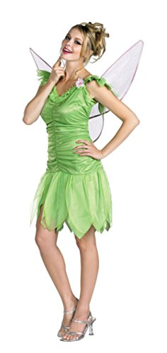 [Disguise Womens Tinker Bell Fairy Disney Theme Party Fancy Halloween Costume, L (12-14)] (Tinkerbell Fairy Costumes For Women)