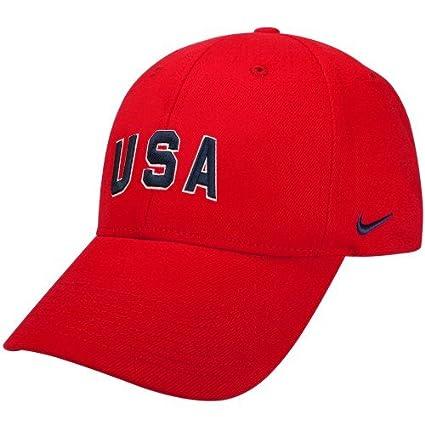 Amazon.com   Nike 2010 Winter Olympics Team USA Red Flex Fit Hat ... 02fb3bcf6a5