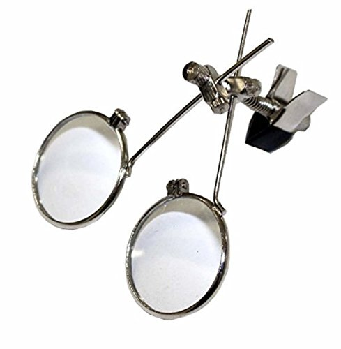 Clip On Loupe - Jewelry double eye loupe clip on magnifier UmbrellaLaboratory